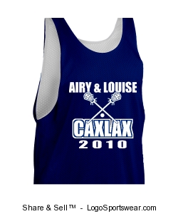 Adult Zone Sleeveless Reversible Lacrosse Jersey Design Zoom